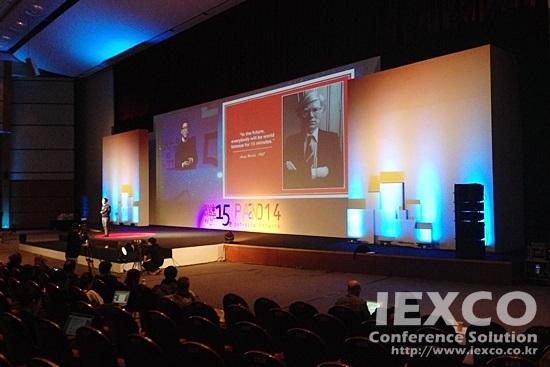 SEBASI 15mins & PAN Asia 2014 Global Conference Jeju Edge-Blending Projection & Sound System