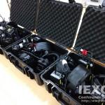 12 TR-700 Intercom Beltpacks for Sports Event